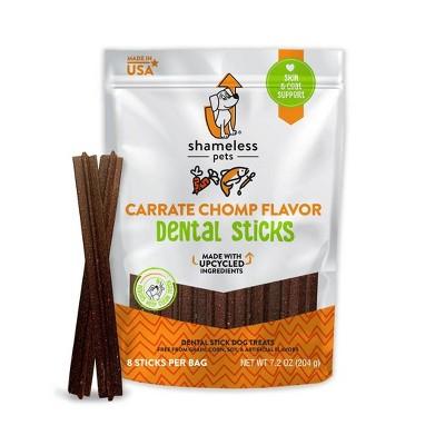 Shameless Pets Carrate Chomp Flavor Dental Stick Dog Treats - 8ct