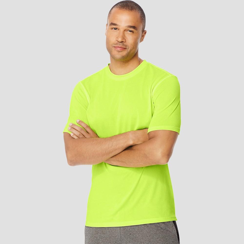 Hanes Sport Mens Endurance Short Sleeve T-Shirt - Green XL Price