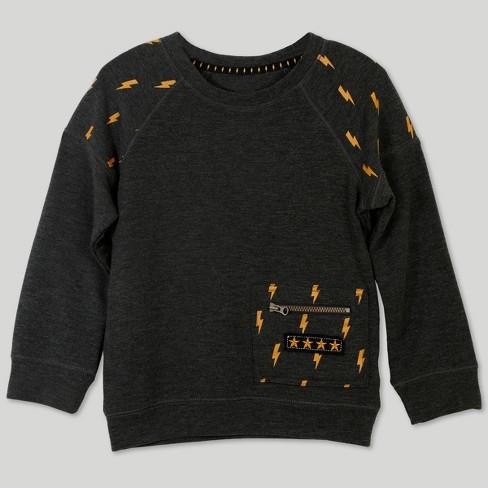 Target Afton Street Toddler Boys' Raglan Sweatshirt – Gray $16.99