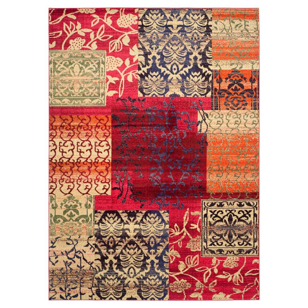 Neely Rug - Multi (9'X12') - Safavieh, Multicolored Red