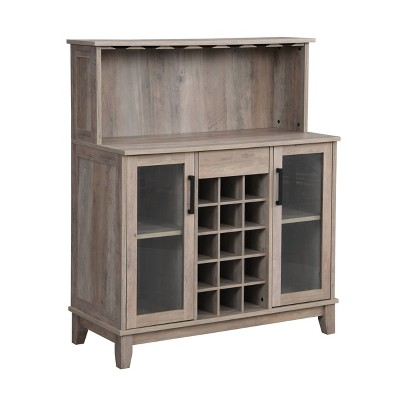 Wine Bar Cabinet with Glass Doors - Home Source