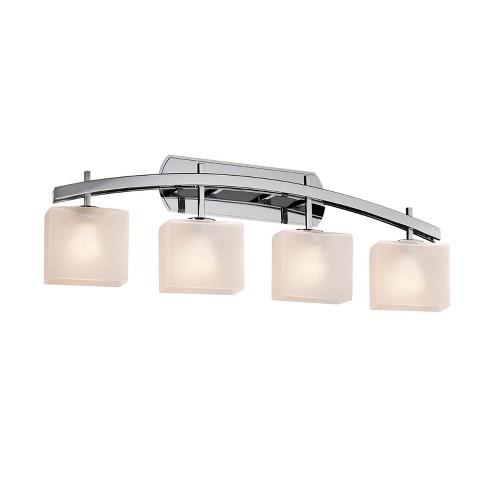 """Justice Design Group FSN-8594-55-FRCR Fusion 4 Light 36"""" Wide Bathroom Vanity Light - image 1 of 1"""