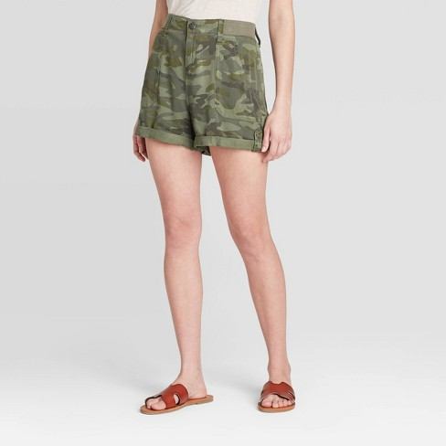 Women's Mid-Rise Utility Tie-Front Shorts - Knox Rose™ - image 1 of 2