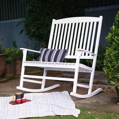 Alston Solid Wood Outdoor Loveseat Rocker - Cambridge Casual