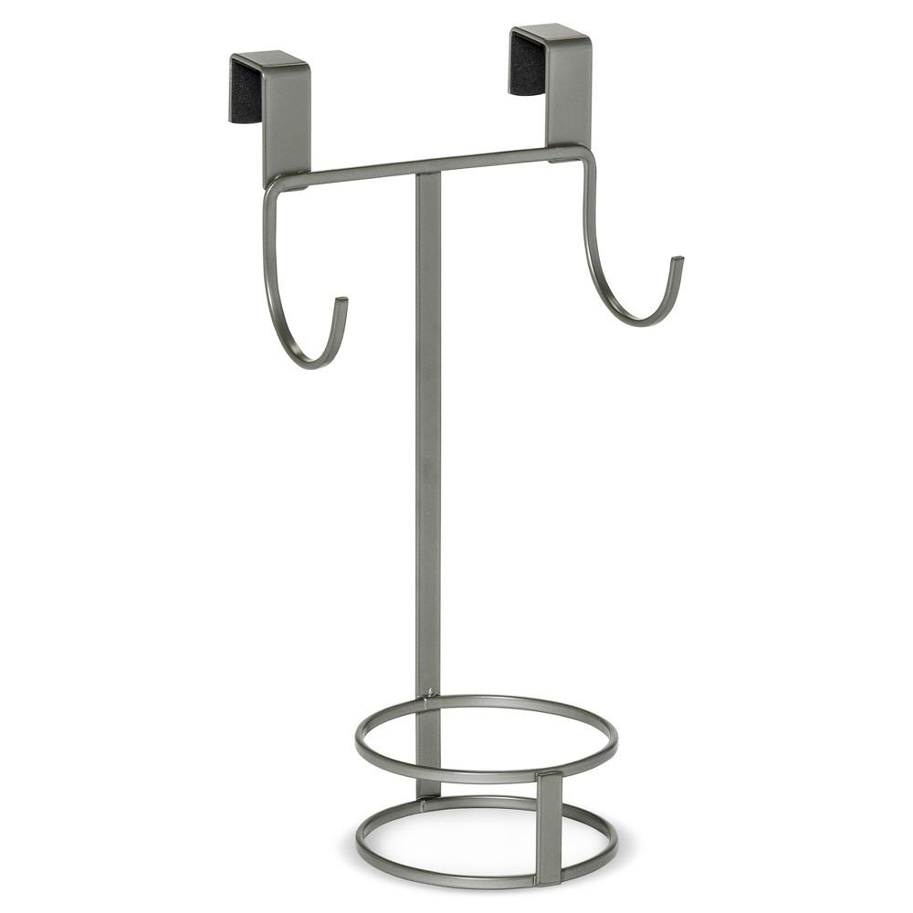 Image of Over the Door Cabinet Hook Mini Hair Organizer Brushed Nickel - 88 Main, Grey