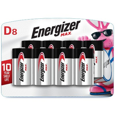 Energizer 8pk MAX Alkaline D Batteries