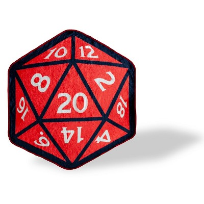 Just Funky Dungeons And Dragons D20 Fleece Throw Blanket | 20-Sided Dice | 52 x 48 Inches