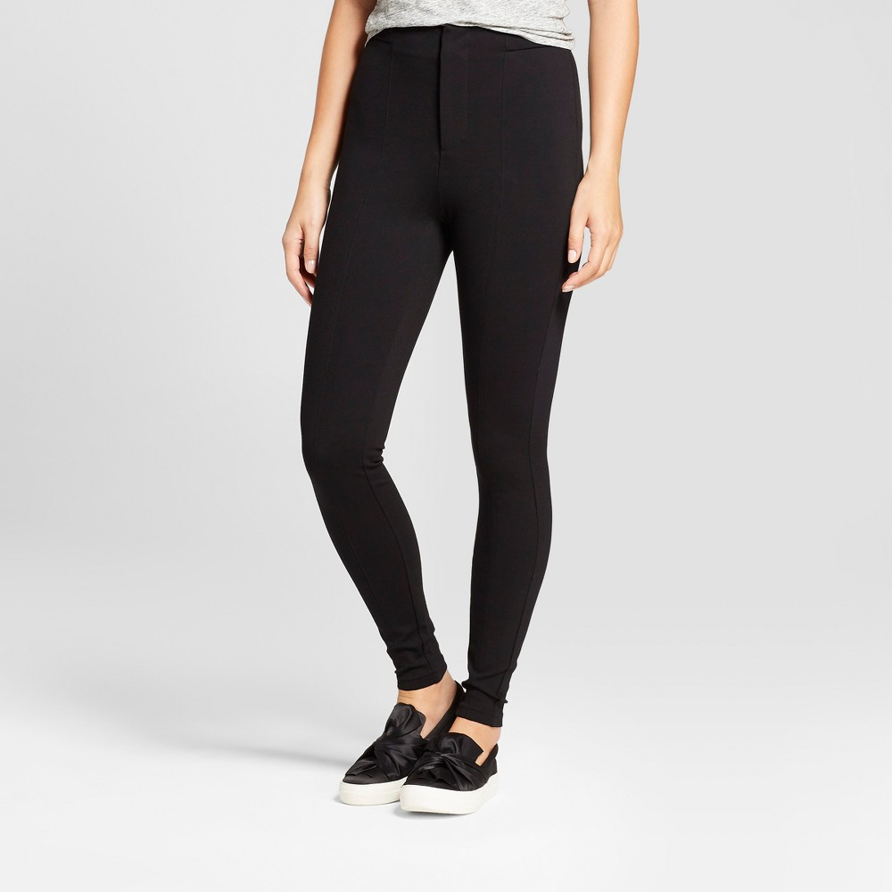 Women's Front Seam Ponte Pants - A New Day Black 18