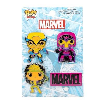 Funko POP! Marvel: X-Men Blacklight 4pk Enamel Pins (Target Exclusive)