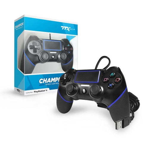 TTX Tech CHAMPION Wired Controller Compatible with PS4, Black - image 1 of 1