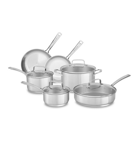 KitchenAid   10 Piece Stainless Steel Cookware Set KC2SS10 - image 1 of 2