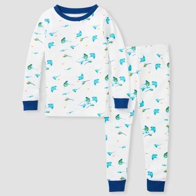 Burt's Bees Baby® Toddler Boys' 2pc Stingray Pajama Set - Dark Blue