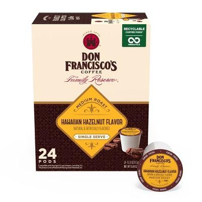 Don Francisco's Hawaiian Hazelnut Medium Roast Coffee - Single Serve Pods - 24ct
