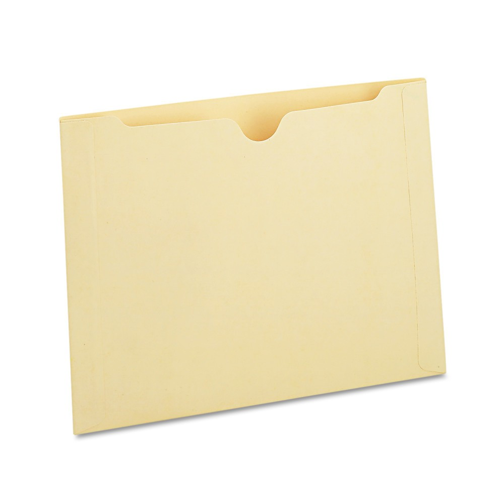 "Image of ""Universal Manila File Folder Jackets with Reinforced Tabs, Two Inch Expansion, Letter, 50/Box (73700), Size: Letter - 2"""", Beige"""