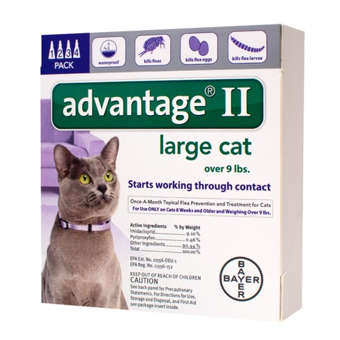 Bayer Advantage II Topical Flea Prevention and Treatment - Large Cats - 4pk - image 1 of 3