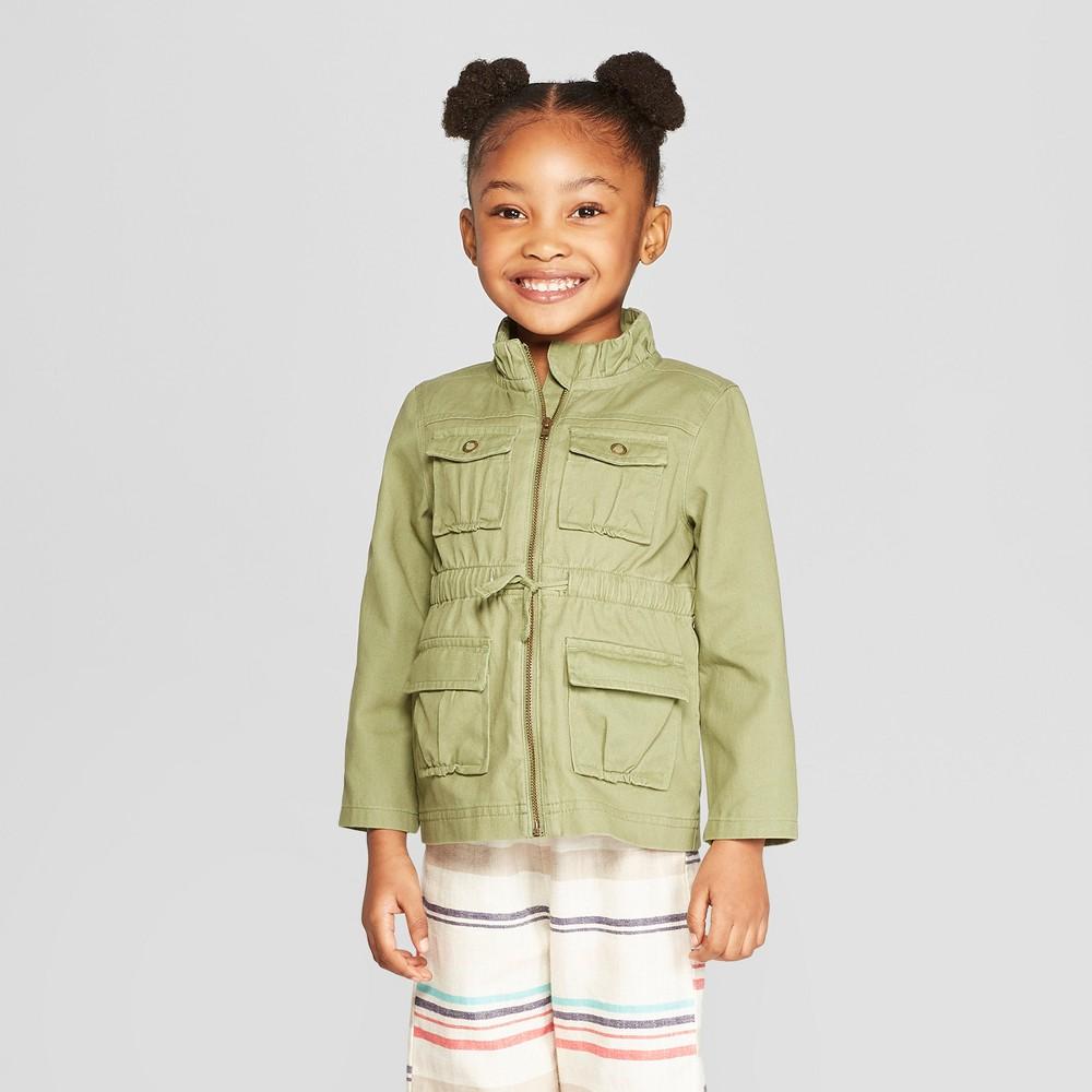 Genuine Kids from OshKosh Toddler Girls' Utility Coat - Green 3T