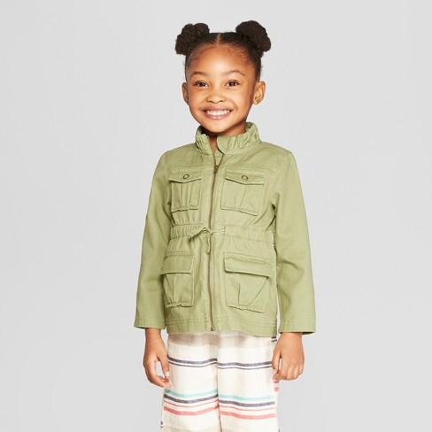 54ede3e260c6 Genuine Kids® From OshKosh Toddler Girls  Utility Coat - Green   Target