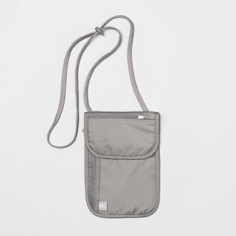 Rfid Wallet Undergarment Neck Pouch - Made By Design, Gray