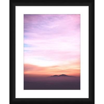 Purple Sunset Framed and Matted Print - PTM Images