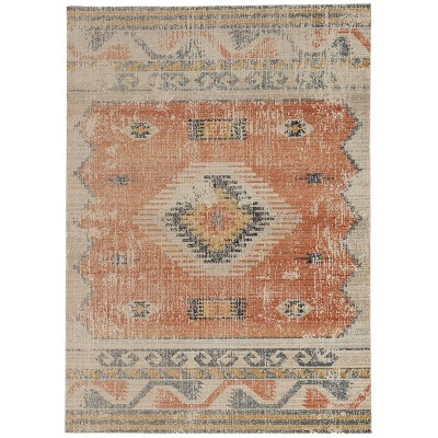 Great Zero Barlow Rug Off White/Red - Linon