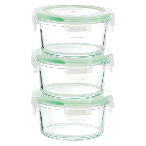 Kinetic GoGreen Glassworks 6-Piece Round Oven Safe Glass Food Storage Container Set with Lid - image 1 of 1