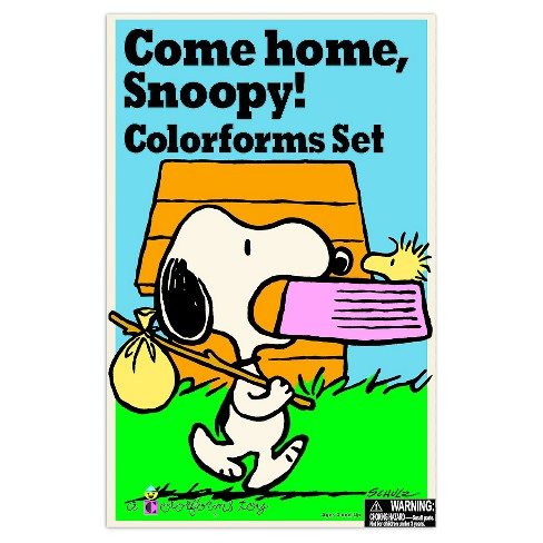 Retro Come Home Snoopy Colorforms - image 1 of 3