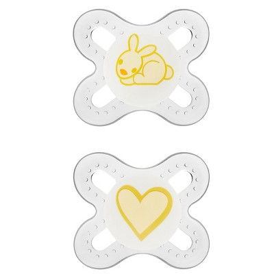 MAM Newborn Start Orthodontic Pacifier, 0+ Months, 2-Count