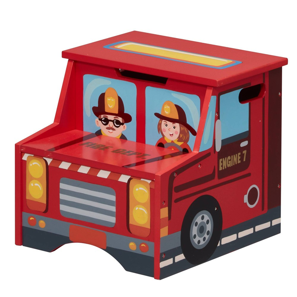 Image of Little Firefighter Fantasy Fields Step Stool - Teamson Kids