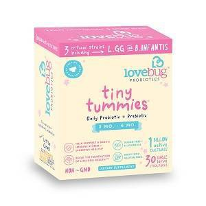 LoveBug Probiotics Tiny Tummies 30pk Infant & Baby Probiotic Supplements for 0-6 Months