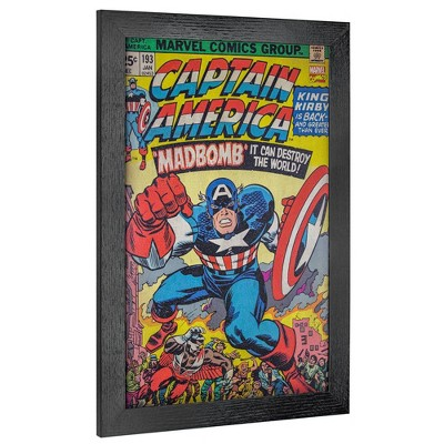 Licensed Marvel Comics Captain America Number 193 Wall Art Yellow/Blue/Red - Crystal Art Gallery