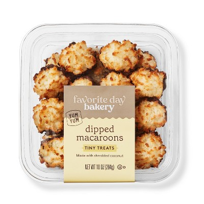 Chocolate Dipped Macaroons - 10oz - Favorite Day™