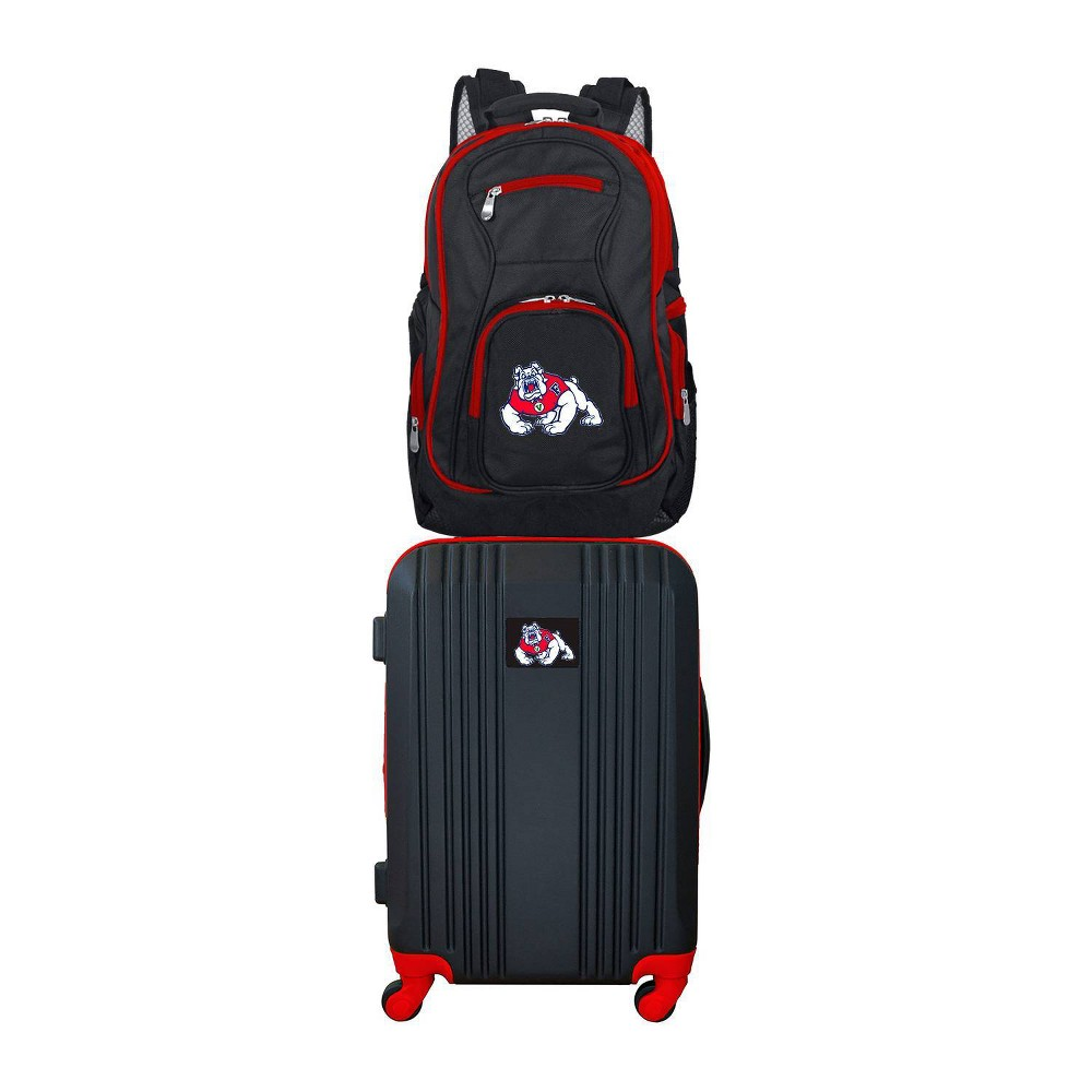 NCAA Fresno State Bulldogs Premium 2pc Backpack & Carry-On Luggage Set