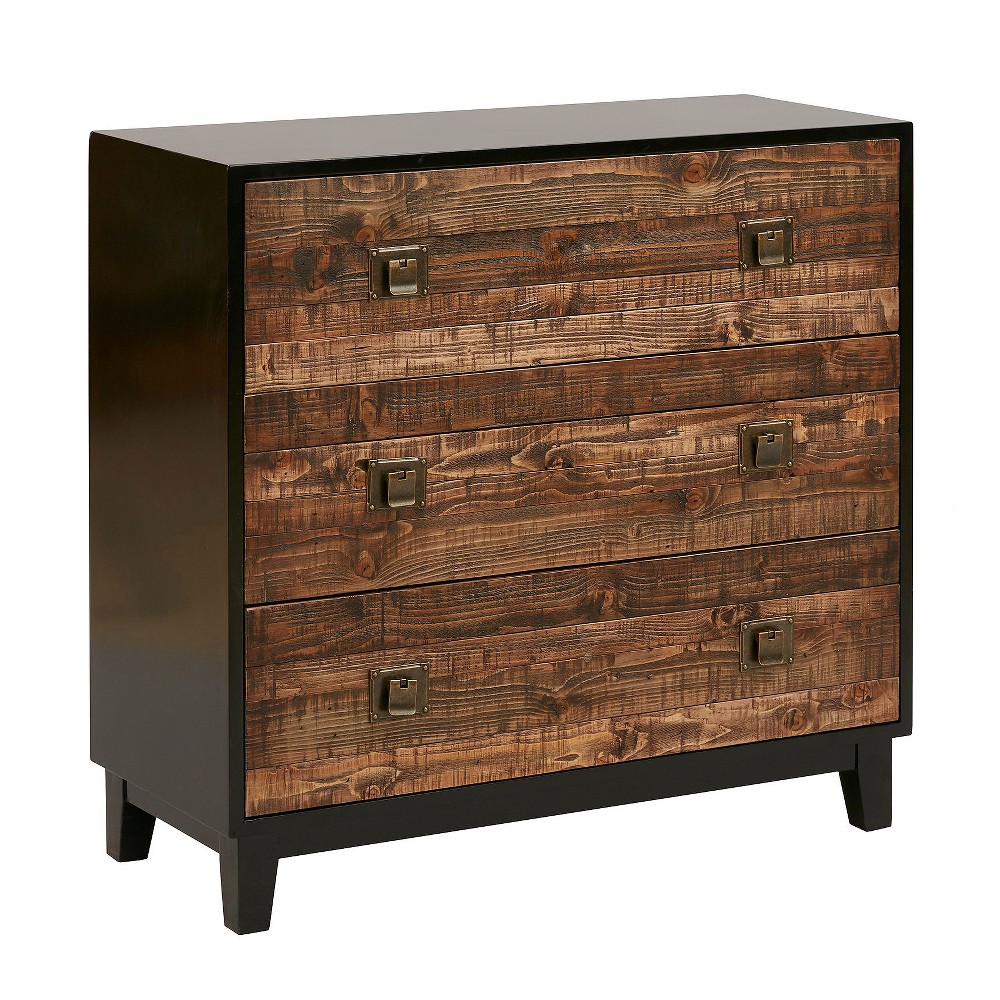Kris Chattered Wood Accent Chest - Chestnut (Brown)