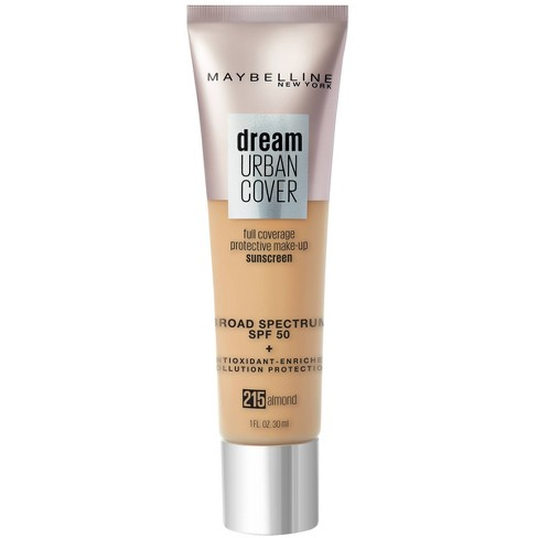 Maybelline Dream Urban Cover Full Coverage Foundation SPF 50 with  Antioxidant Enriched + Pollution Protection - 1 fl oz - image 1 of 4