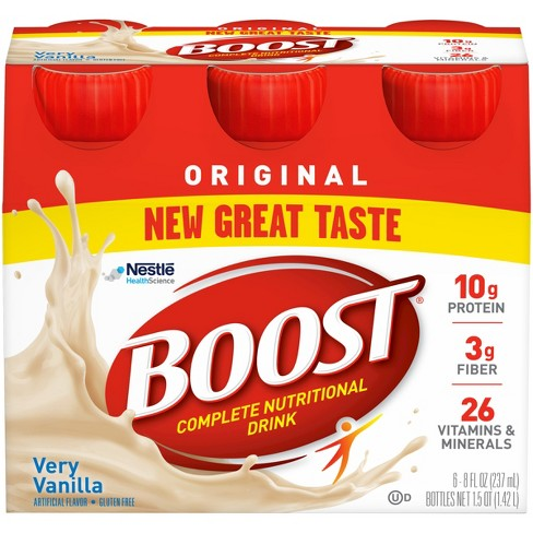 Boost Original Complete Nutritional Drink - Vanilla -  8oz/6ct - image 1 of 5