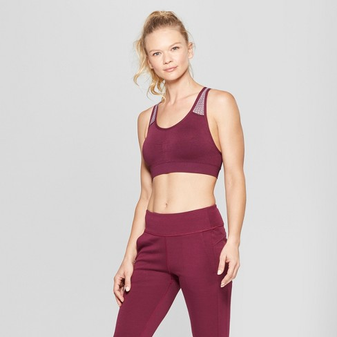 2664c76914 Women s Seamless Mesh Bra - C9 Champion® Dark Berry Purple XL   Target