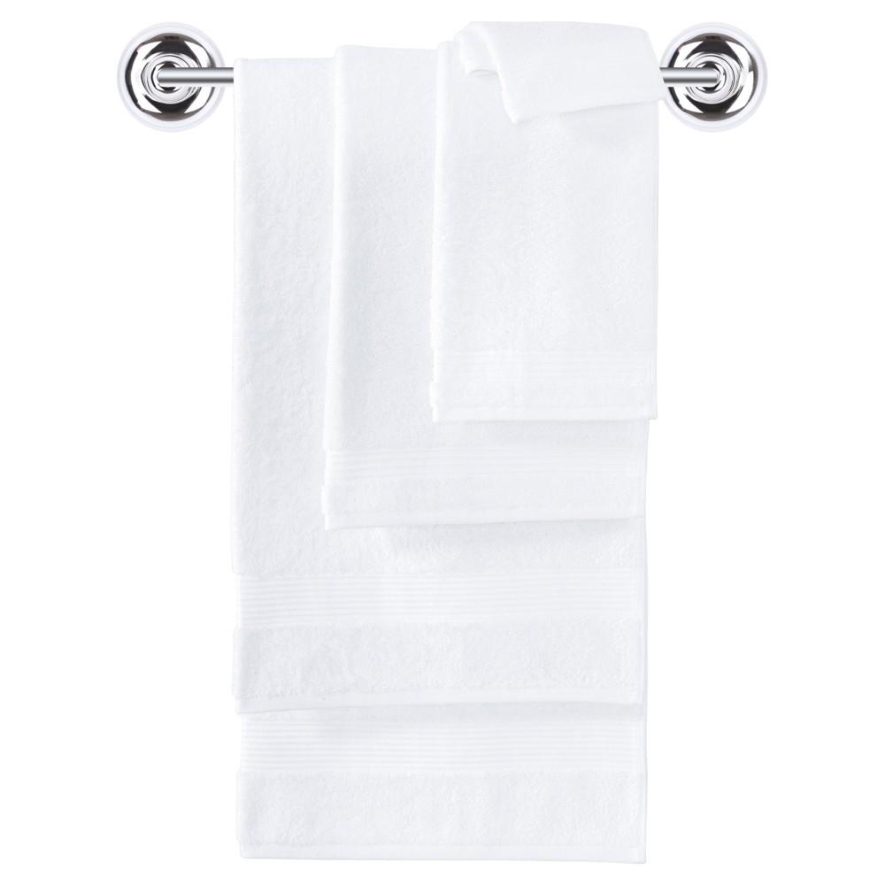 Image of 6pc Amadeus Turkish Bath Towel Set Snowball White - Makroteks