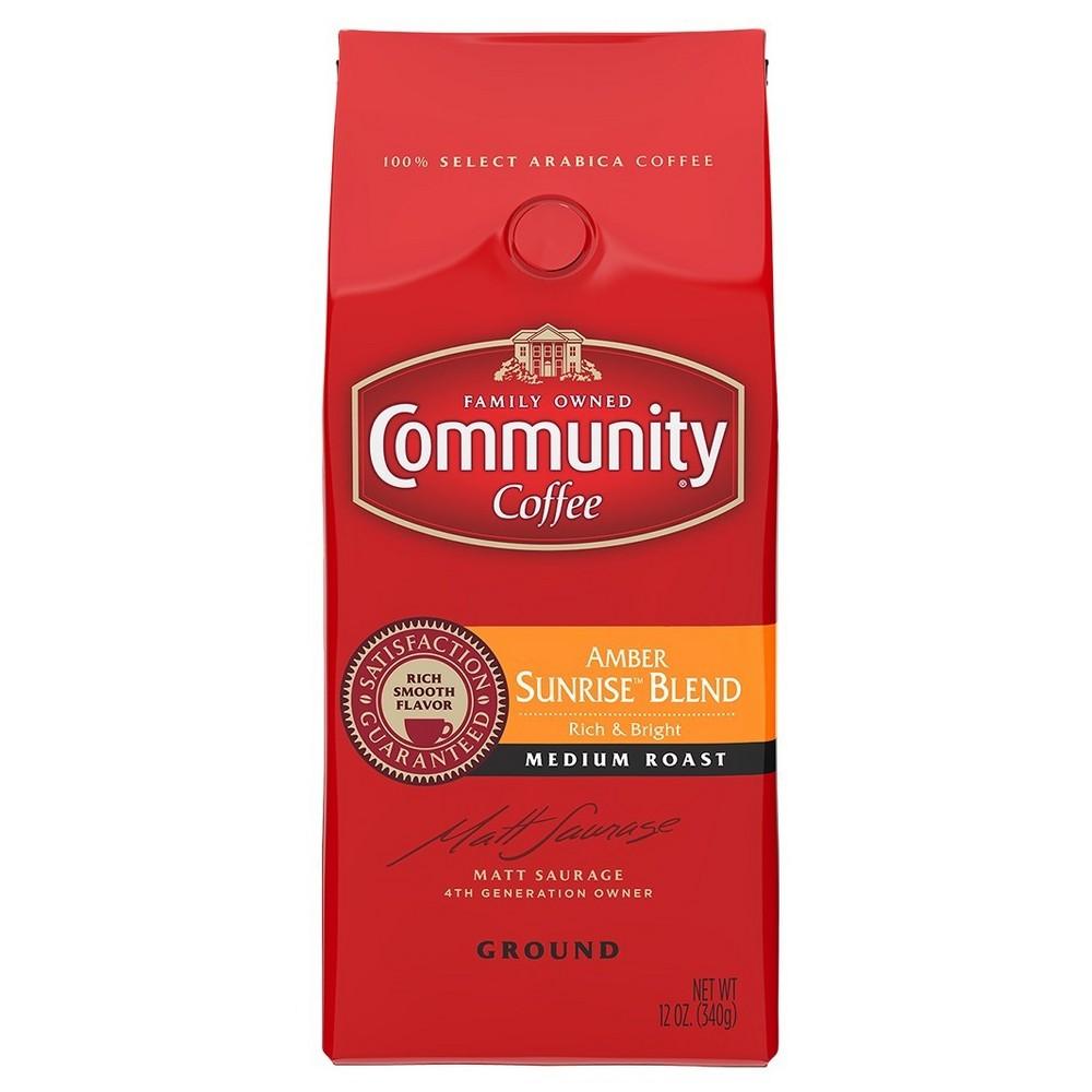 Community Coffee Amber Sunrise Blend Medium Roast Ground Coffee - 12oz