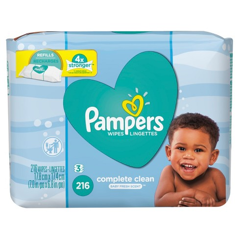 Pampers Baby Fresh Wipes 216ct - image 1 of 4