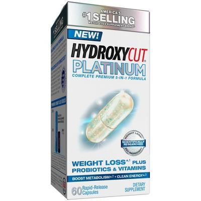 Hydroxycut Platinum Weight Loss Plus Probiotics & Vitamins Dietary Supplement Capsules - 60ct