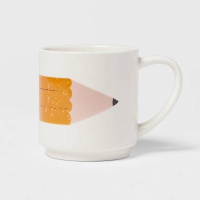 16oz Stoneware Pencil Print Mug - Room Essentials™