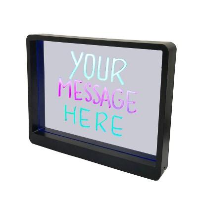 Mirrored LED Lit Message Board Black - Room Essentials™