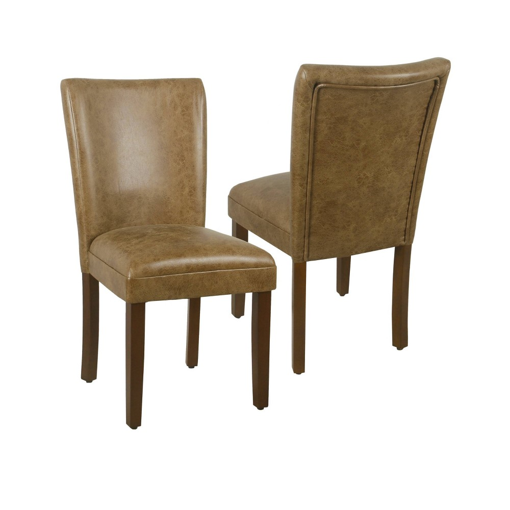 Set of 2 Parsons Dining Chair Distressed Brown - Homepop was $239.99 now $179.99 (25.0% off)