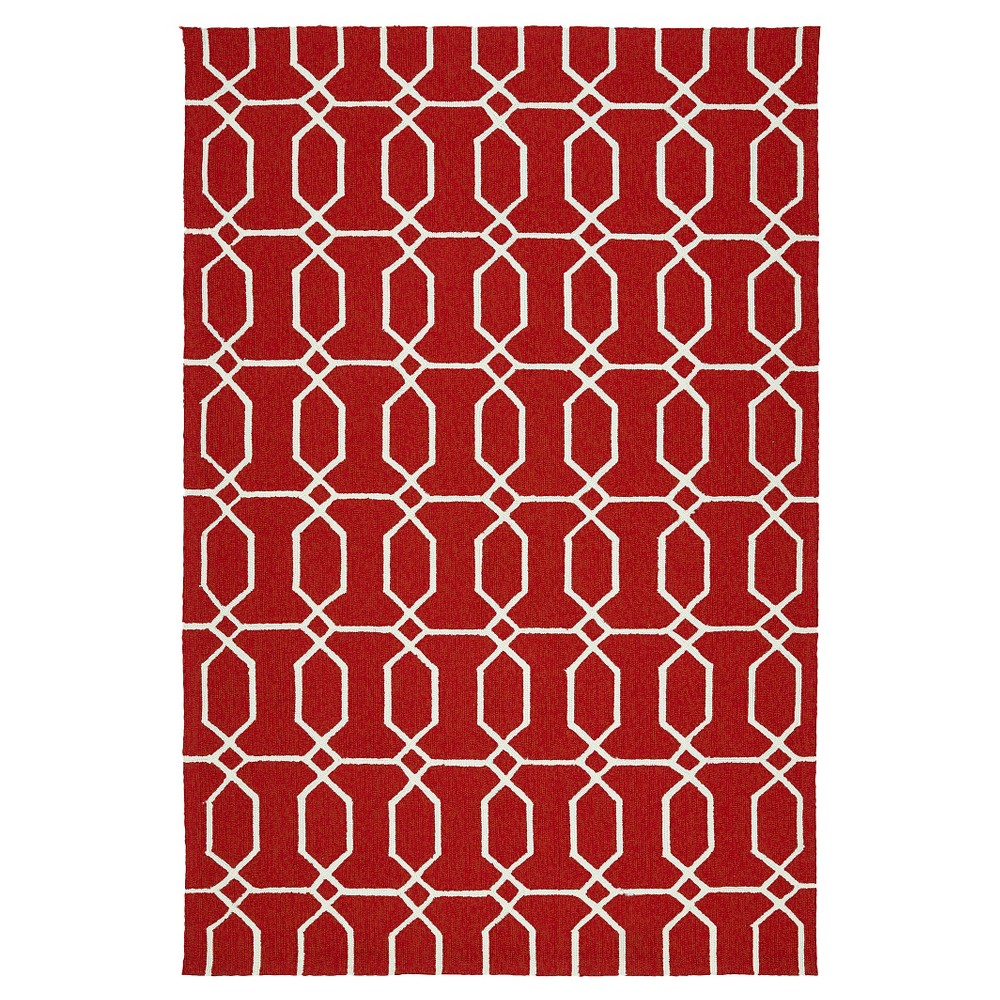 Image of 4'X6' Geometric Area Rug Red - Kaleen Rugs