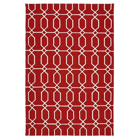 Floor Mat 2'X3' Kaleen Rugs Red - image 1 of 3