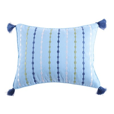 Catalina Embroidered Tassel Decorative Pillow - Levtex Home