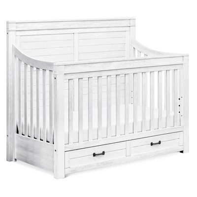 Million Dollar Baby Classic Hollis 4 In 1 Convertible Storage Crib With  Toddler Rail   Country White