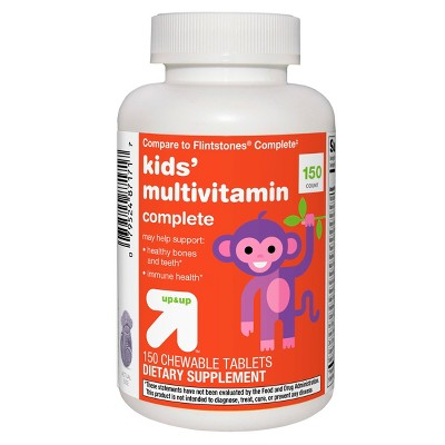 Children's Multivitamin Dietary Supplement Chewable Tablets - 150ct - Up&Up™ (Compare to Flintstones Complete)