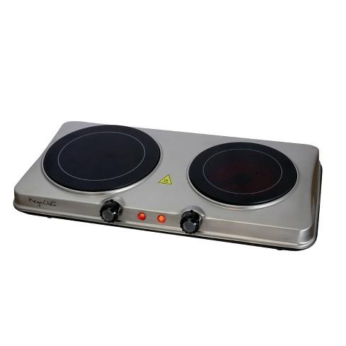 Megachef Portable Dual Vitro-Ceramic Infrared Cooktop - Silver - image 1 of 4