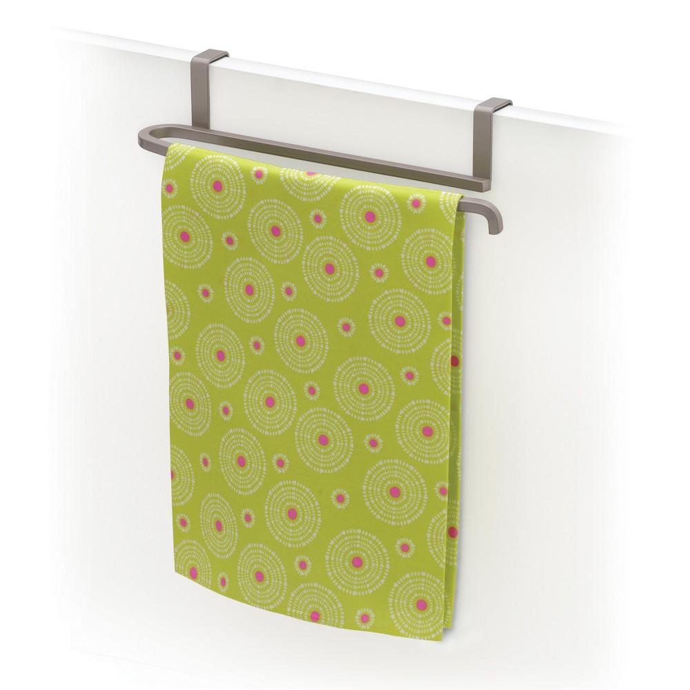 Image of Lynk Over Cabinet Door Towel Bar - Satin Nickel